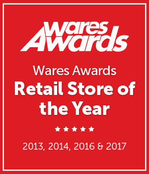 Wares Awards Retail Store of the Year: 2013, 2014 and 2016