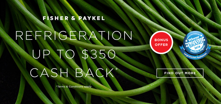 Fisher & Paykel Cash Back