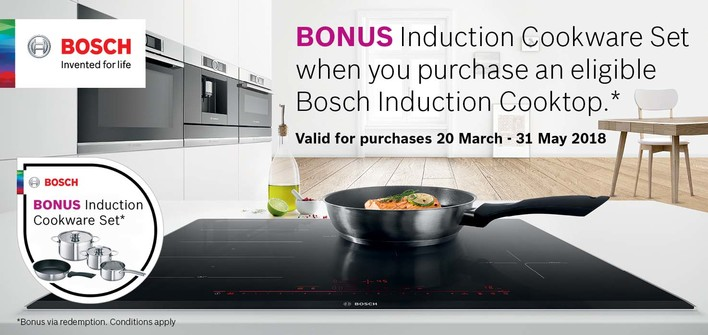 Bosch Induction Cooktop Promotion