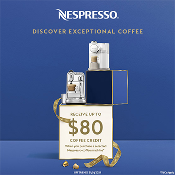 Nespresso coffee credit