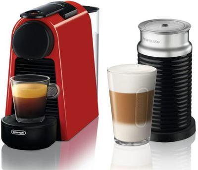 Delonghi Essenza Mini Coffee Machine - Ruby Red