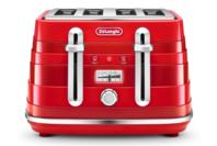 DeLonghi Avvolta 4 Slice Toaster - Red