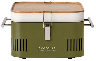 CUBE Charcoal Portable Barbeque - Khaki - Everdure by Heston Blumenthal