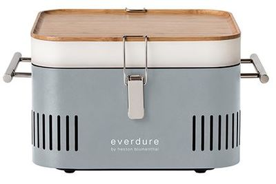 CUBE Charcoal Portable Barbeque - Stone - Everdure by Heston Blumenthal