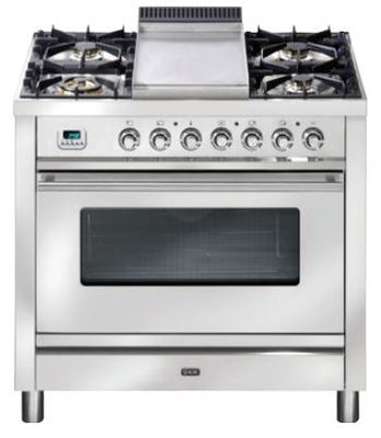 ILVE 90cm Quadra Series Freestanding Cooker - Stainless Steel