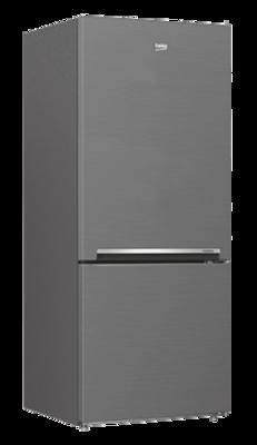 Beko 407L Bottom Mount Fridge/Freezer Platinum