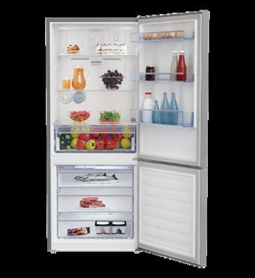 Beko 407l platinum bottom mount fridge freezer bbm407px 3