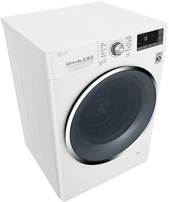 Lg 9kg front load washing machine wd1409ncw 5