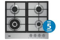 Beko 60cm Stainless Steel Gas Cooktop