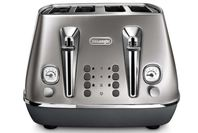 DeLonghi Distinta Flair 4 Slice Toaster Finesse Silver