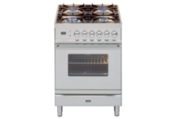 ILVE 60cm Stainless Steel Gas Cooker with Electric Oven