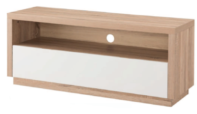 Criterion Brunswick TV Cabinet 1200 Light Oak Wood
