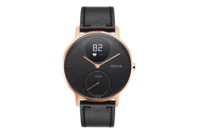 Withings/Nokia Steel HR Hybrid Smartwatch - 36mm, Rose Gold/Black Leather