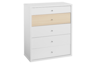 Platform10 Cosmo Chest Drawers (White/Beech)