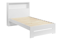 Platform10 Cosmo King Single Bed Frame with Storage Headboard (White)
