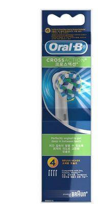 Oral-B CrossAction 4pk Brush Heads