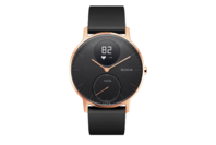 Withings/Nokia Steel HR Hybrid Smartwatch - 36mm, Rose Gold/Black Silicone