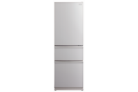 Mitsubishi 402L Glass CX Designer Series Multi Drawer Refrigerator Silver