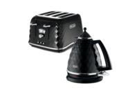 Delonghi Brilliante Kettle & 4 Slice Toaster - Black