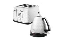 Delonghi Brilliante Kettle & 4 Slice Toaster - White