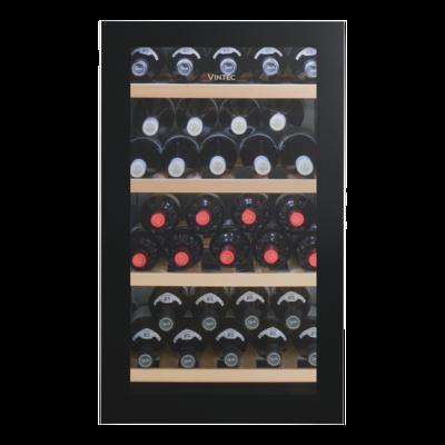 Vintec 35 Bottle (max - Bourdeaux) Freestanding Wine Cabinet- Black