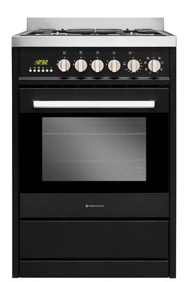 Parmco 600mm Free Standing Gas/ Electric Stove - Black
