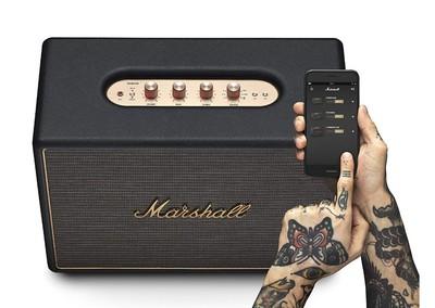 Marshall woburn wireless multi room wifi speaker black %283%29