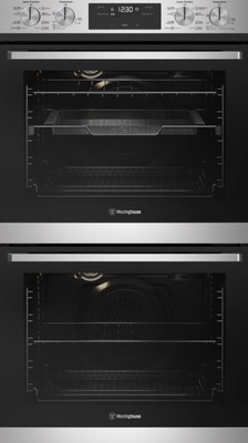 Westinghouse 60cm Multi-Function 8/8 double oven with AirFry, stainless steel