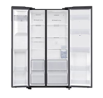 Samsung 656l side by side fridge   black 4