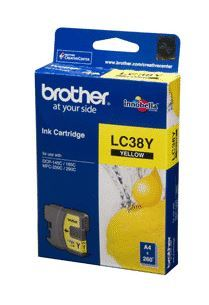 Brother Ink LC38Y Yellow Cartridge