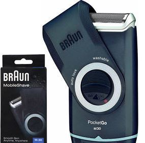 Braun MobileShave Pocket Go Shaver M-30