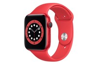 Apple Watch Series 6 GPS + Cellular, 44mm Red Aluminium Case with Red Sport Band - Regular