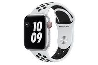 Apple Watch Nike Series 6 GPS + Cellular, 40mm Silver Aluminium Case with Pure Platinum/Black Nike Sport Band - Regular