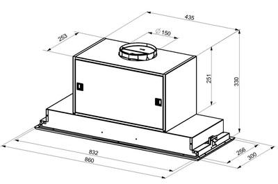 Award 86cm low noise rangehood   dimensions