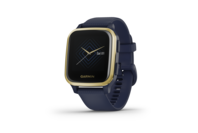 Garmin Venu SQ - Music Edition, Light Gold Aluminium Bezel With Navy Case And Silicone Band