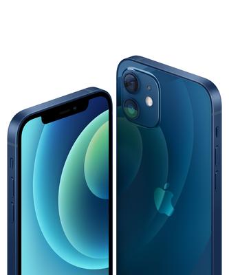 Iphone 12 blue close up