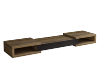 Tauris Split 2500 Tv Cabinet - Dark Oak