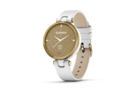 Garmin Lily - Classic Edition Light Gold Bezel with White Case and Italian Leather Band