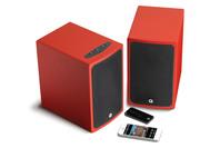 Q Acoustics Active Wireless Bluetooth Speakers - Juice Red (Display)
