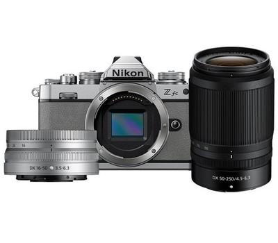 Nikon Z FC Natural Grey Nikkor 16-50mm VR Silver + 50-250mm