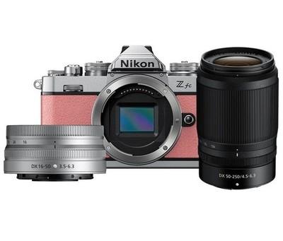 Nikon Z FC Coral Pink Nikkor 16-50mm VR Silver + 50-250mm