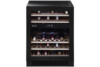Ilve Black Glass 37 Bottle Single Door Dual Zone Wine Cabinet - Left Hinge