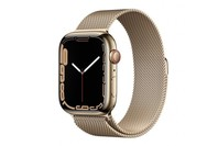 Apple Watch Series 7 GPS + Cellular 45mm Gold Stainless Steel CaseGold Milanese Loop
